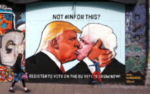 A_mural_of_Donald_Trump_embracing_Boris_Johnson_is_seen_on_a_building_in_Bristol_Britain
