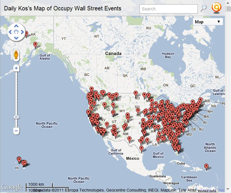 Daily maps maps of the occupy wall street movement there are lots of maps of ows on line see the range of visual impressions some of their various symbologies tell publicscrutiny Image collections